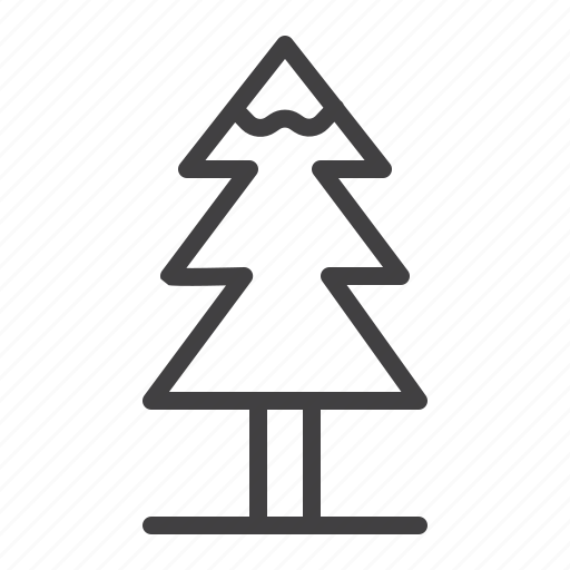 christmas, coniferous, fir, tree, winter icon