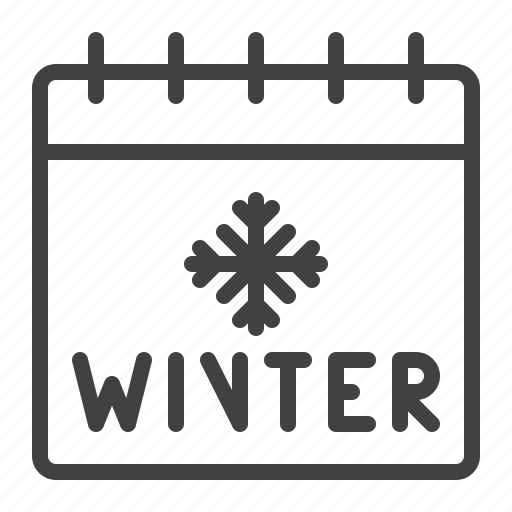 calendar, date, holiday, snowflake, winter icon