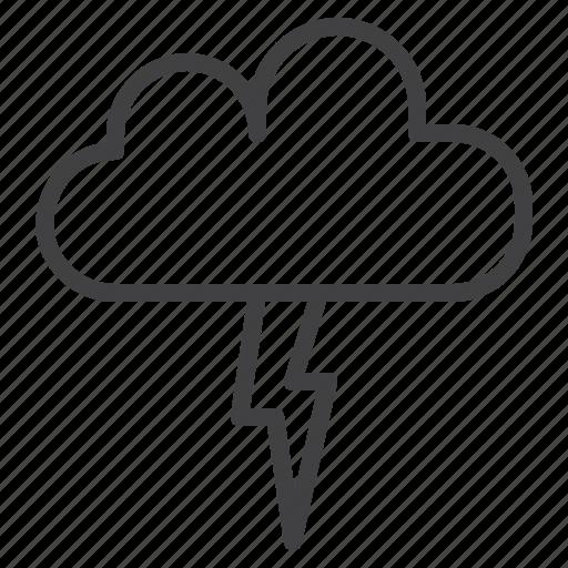 cloud, flash, lightning, storm, thunderstorm icon