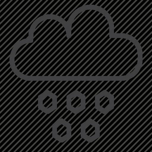 climate, cloud, hail, hailstone, overcast, winter icon