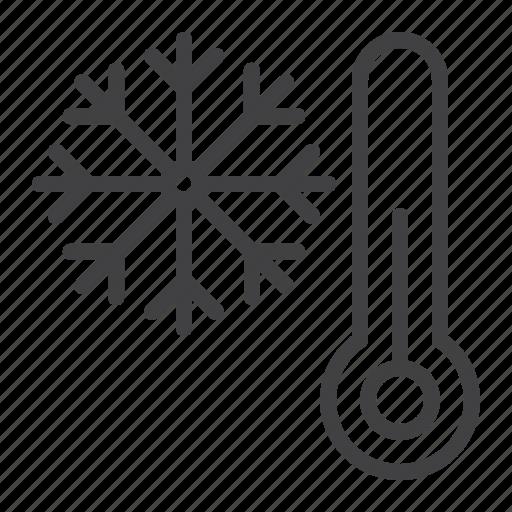 cold, snowflake, thermometer, winter icon