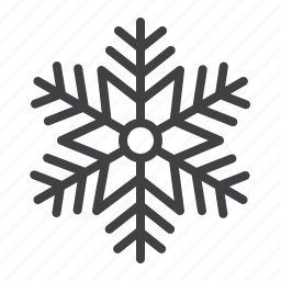 cold, crystal, ornament, snowflake, winter icon