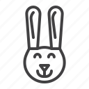 bunny, face, hare, head, rabbit icon