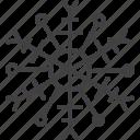 cold, freeze, ornament, snowflake, winter icon