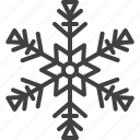 cold, flake, freeze, ornament, snow, winter icon