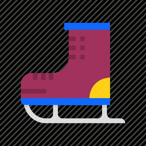 iceskating, shoe, skate, skating, sport, winter icon