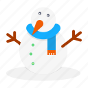 carrot, christmas, new, snow, snowman, winter, year