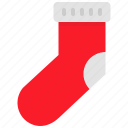 christmas, knitted, new year, santa, sock, winter, wool icon