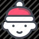 boy, christmas, hat, winter, xmas icon