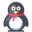 christmas, holliday, penguin, winter, xmas icon