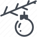 branch, christmas, decoration, spruce, toy, winter, xmas icon