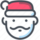 beard, christmas, claus, santa, winter, xmas icon