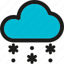 cloud, clouds, cloudy, cold, forecast, snowing icon