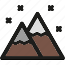 christmas, mountain, mountains, snow, weather, winter icon