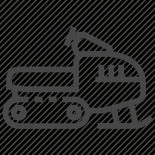 snowmobile, transport, winter icon