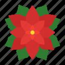 christmas, flower, nature, plants, poinsettia, winter icon