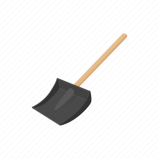 cartoon, cleaning, handle, shovel, sign, snow, tool, work icon