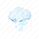 cartoon, cloud, forecast, season, sign, snow, weather icon