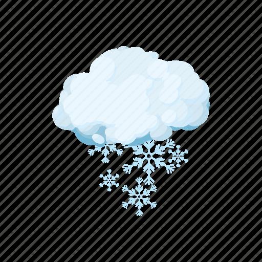 cartoon, cloud, forecast, season, sign, snow, weather icon