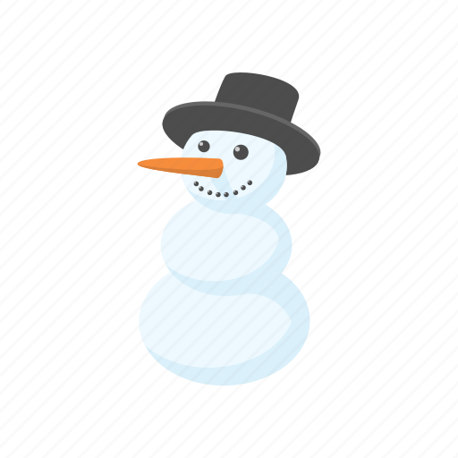 cartoon, christmas, hat, holiday, sign, snow, snowman icon