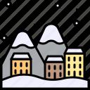 winter, city, snow