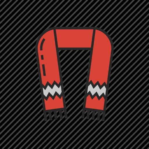 clothes, fashion, scarf, winter icon