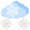 weather, nowy, snows, snowing, winter icon