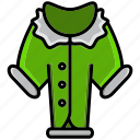 blazer, cold, holiday, ice, jacket, loat, winter icon