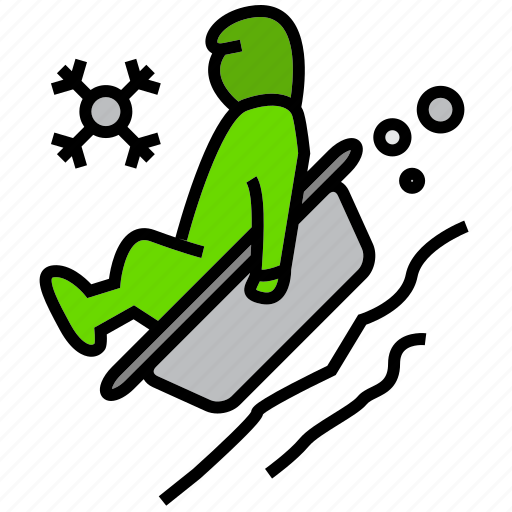 cold, holiday, ice, sled, sledding, tow, winter icon