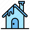 christmas, house, snow, winter icon