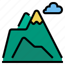 mountian, snow, winter icon