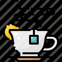 beverage, cup, drink, hot, lemon, smoke, tea icon
