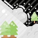 avalanche, danger, disaster, landslide, natural, snow, winter