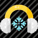 accessories, cloth, earmuffs, fashion, snowflake, wear, winter