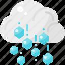 cloud, forecast, hail, hailstone, hailstorm, weather icon