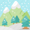 forest, holiday, mountain, nature, pine, snow, winter