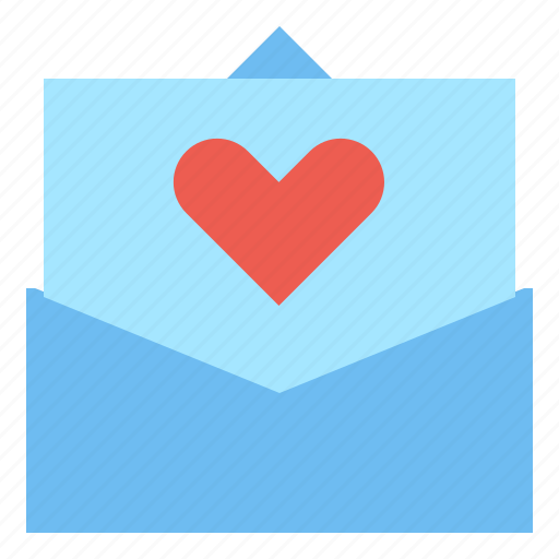 card, heart, message icon