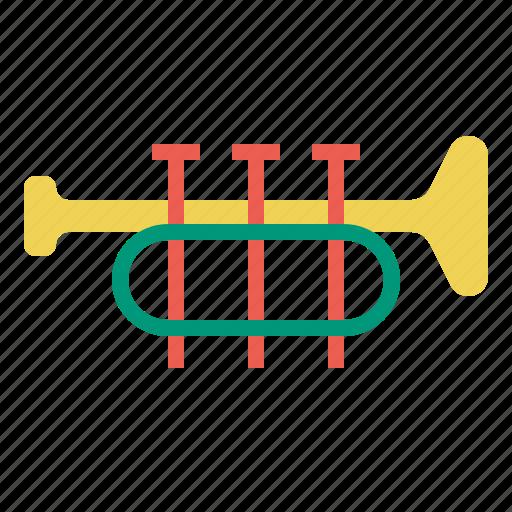 music, trumpet icon