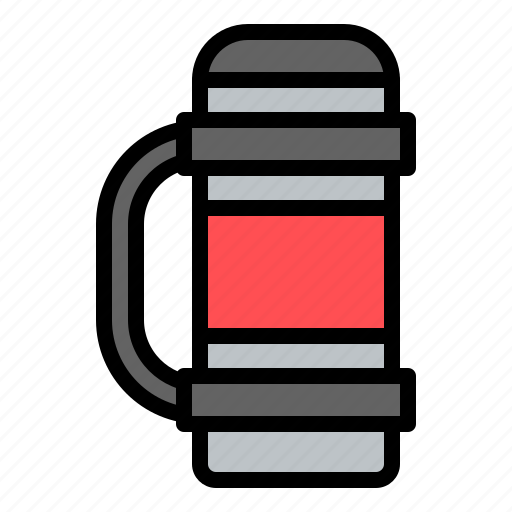 flask, thermos, vacuum flask, winter icon