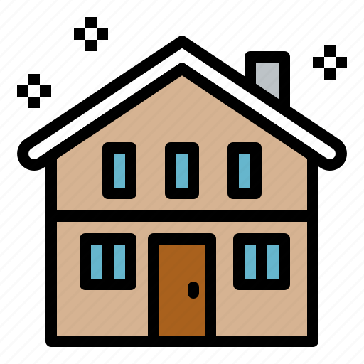 architecture, home, house, real estate, winter icon
