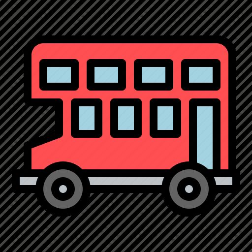 bus, car, double decker, travel, vehicle icon