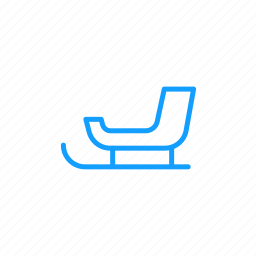 carrier, sled, snow, winter icon