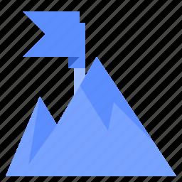 fill, mountain, set, winter icon