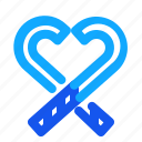 blue, candy, set, stick, winter icon