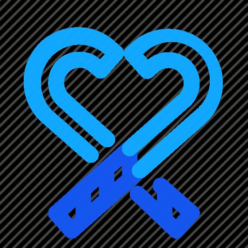 blue, candy, set, stick, winter icon