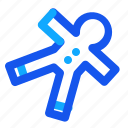 blue, ginggerbread, set, winter icon