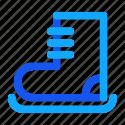 blue, set, shoes, sky, winter icon