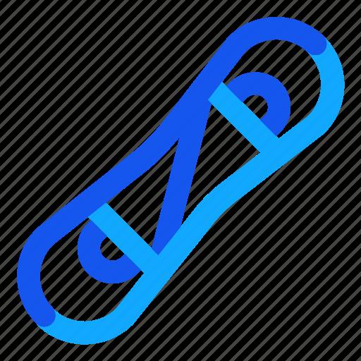 blue, set, snowboard, winter icon