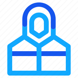 blue, jacket, set, snowboard, winter icon