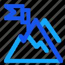 blue, mountain, set, winter icon